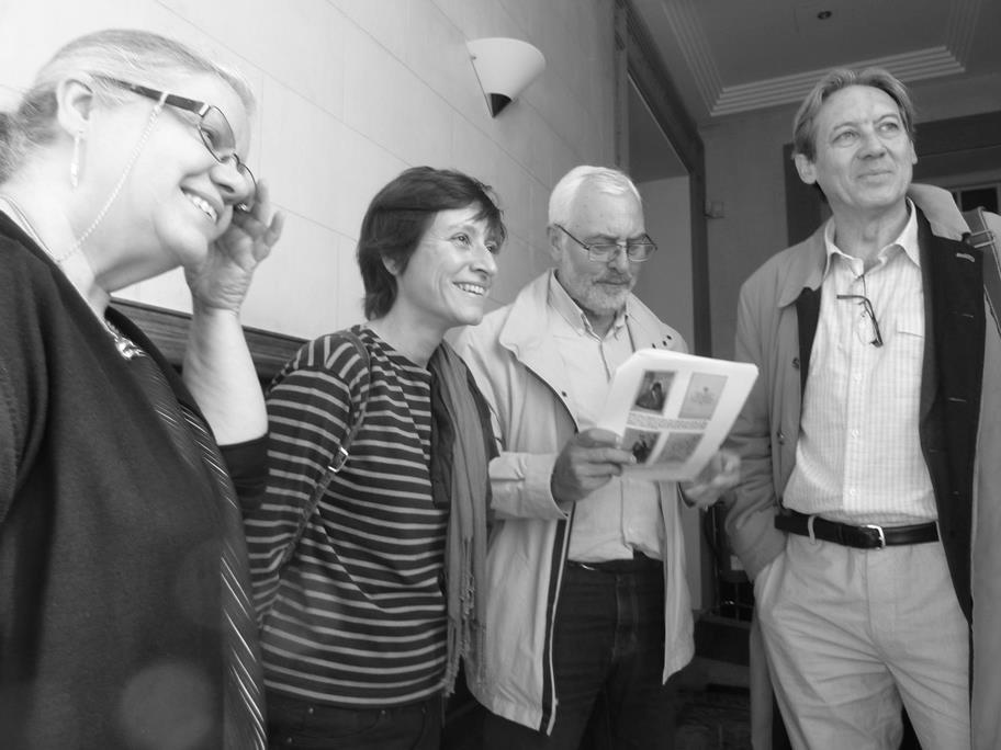 Yolanda Fdez.-Barredo, Mª José Rodríguez, José Ramón Sanchís y J.F. Martos Causapé