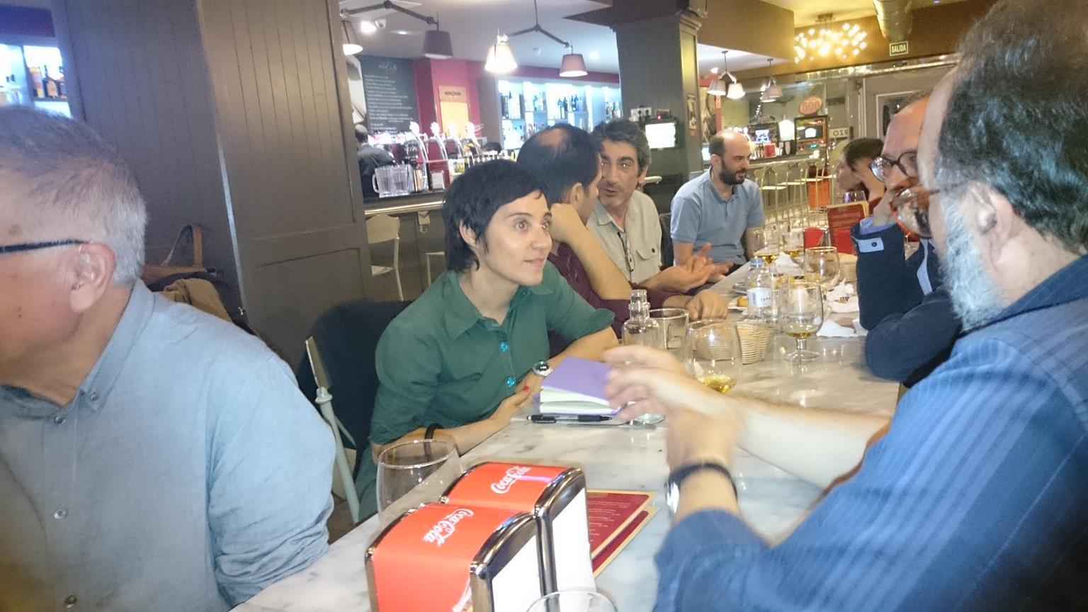Pep Benlloch (cortado), Lidia Ortiz, Nuno Borges, José Moya, Carlos Magariños y Alexandre Ramires