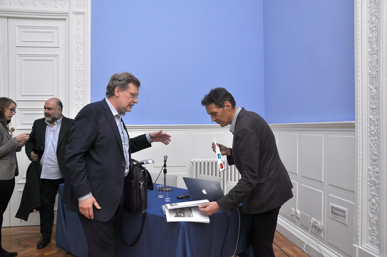 Dainius Junevicius y Denis Pellerin, departiendo. 23/10/19
