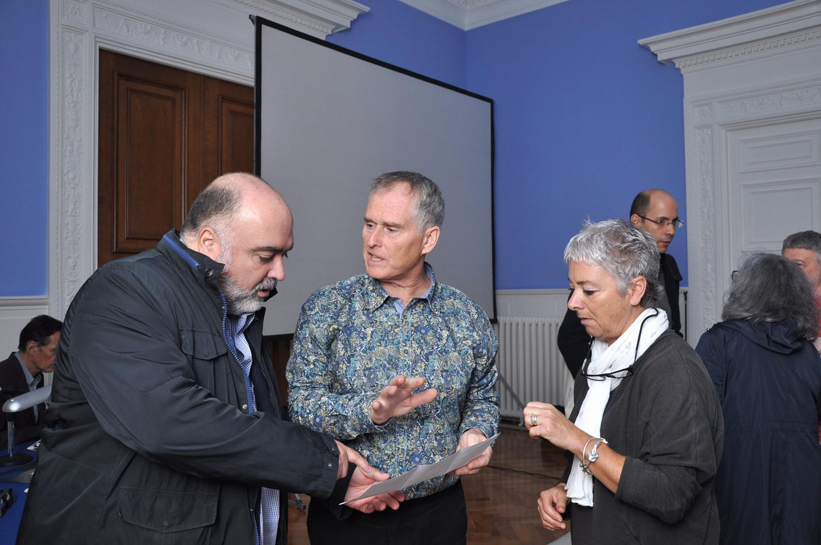 José Antonio Hernández, respondiendo a las preguntas del matrimonio Blair. 23/10/19