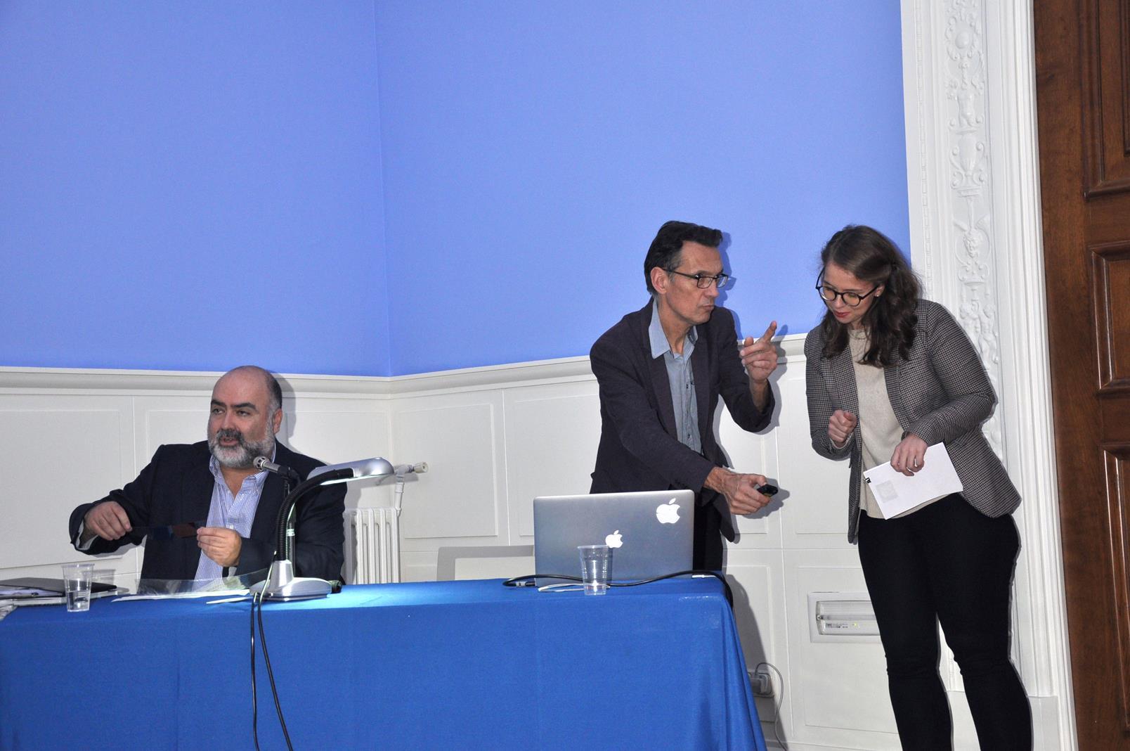 J.A. Hernández Latas, Pellerin y Stéphany Onphray. 23/10/19