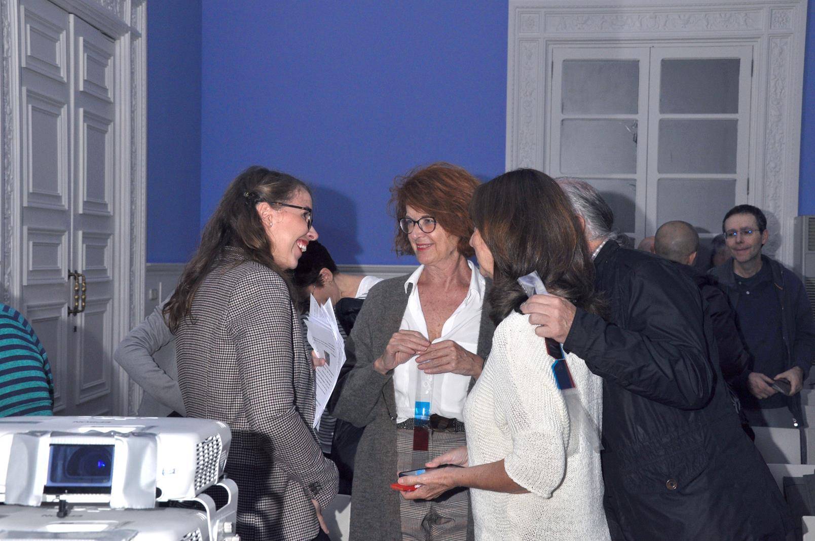 Stéphany Onphray, Rachel Bullough y Mª Teresa García Ballesteros. 23/10/19