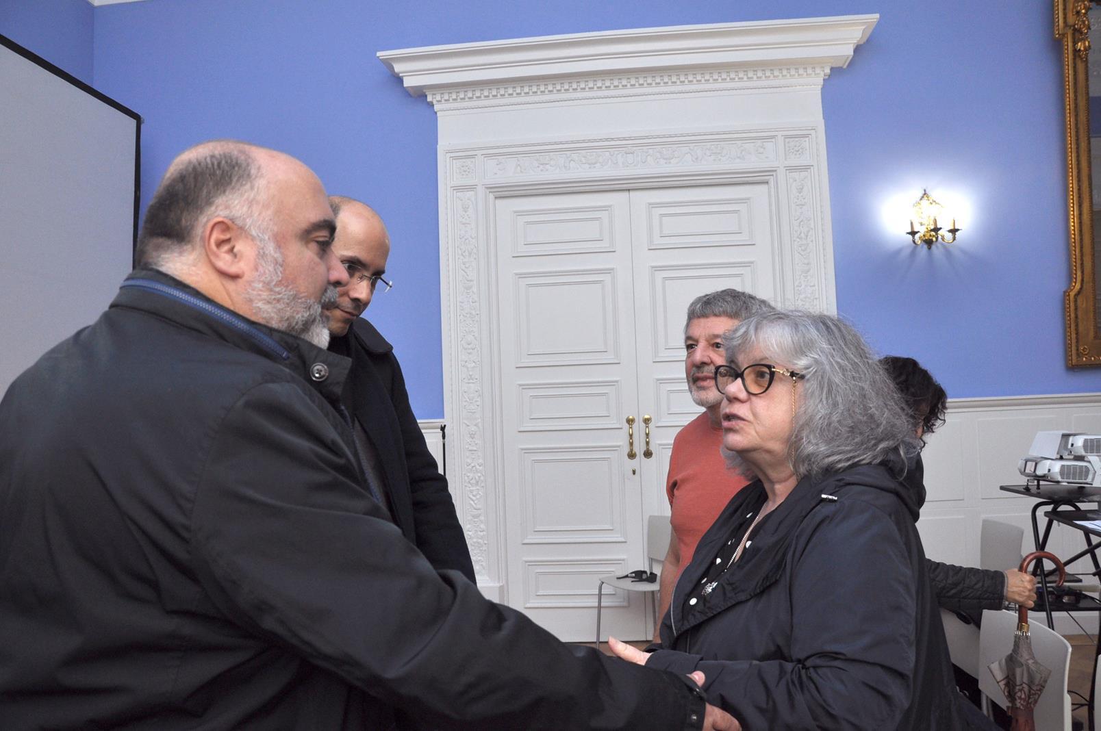 J.A. Hernández Latas y Victor Flores con Yolanda Fernández Barredo y Juanjo Sánchez. 23/10/19